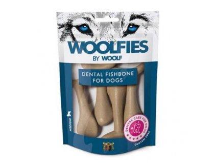 pochoutka dentalni woolfies dental fishbone m 200g