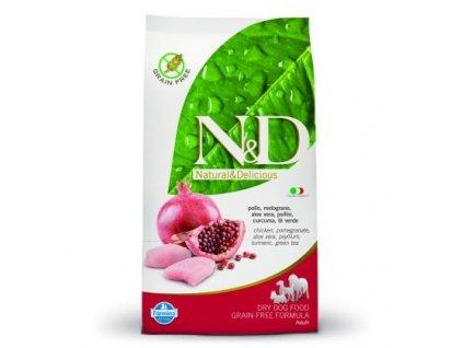 N&D GF DOG Adult Mini Chicken & Pomegranate