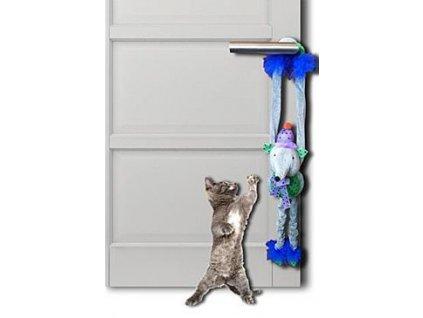 Hračka kočka Papillon plyš Myš 45cm s rolničkou, závěs.