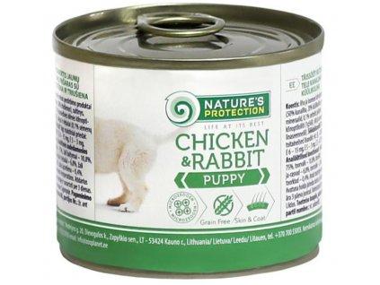 Nature's Protection Dog konz.Puppy kuře/králík