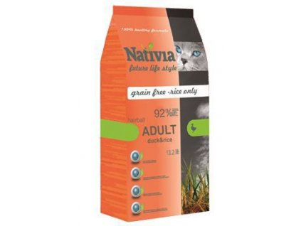 Nativia Cat Adult Hairball Duck&Rice