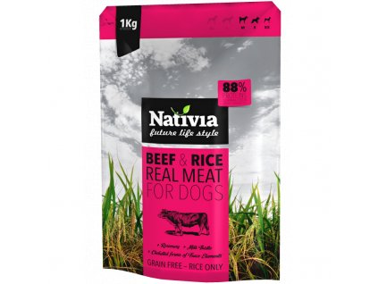 Nativia Dog REAL Meat Beef & Rice