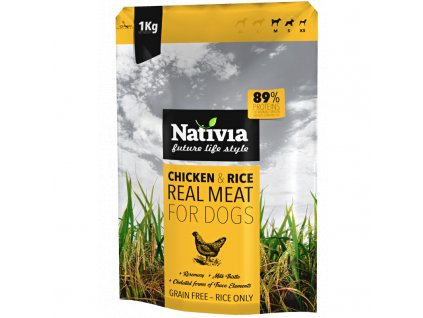 Nativia Dog REAL Meat Chicken & Rice