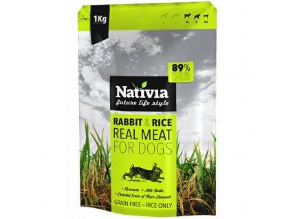 Nativia Dog REAL Meat Rabbit & Rice