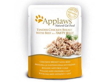 Applaws Cat kaps. kuřecí prsa a hovězí v aspiku 70g