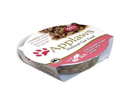 Applaws Cat miska tuňákové filety a krab 60g