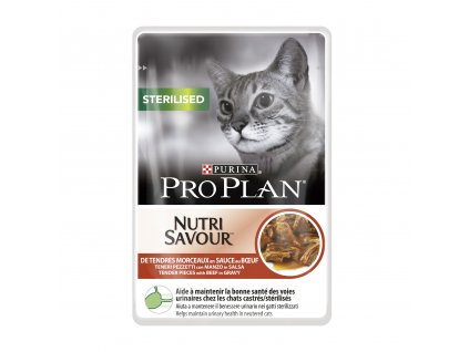 PRO PLAN Cat kaps. Sterilised Beef 85g