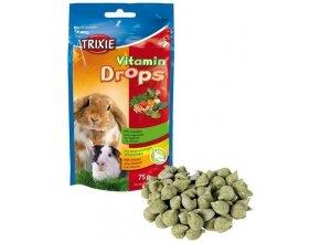 Trixie Vitamin Drops hlodavec se zeleninou 75g