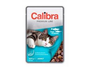 Calibra Cat Pstruh a losos v omáčce 100g