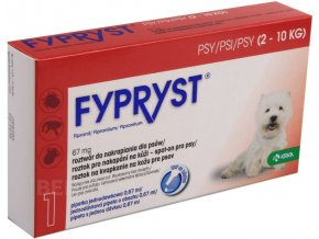 Fypryst spot on a.u.v. S (pes 2-10kg) sol 1x0,67 ml