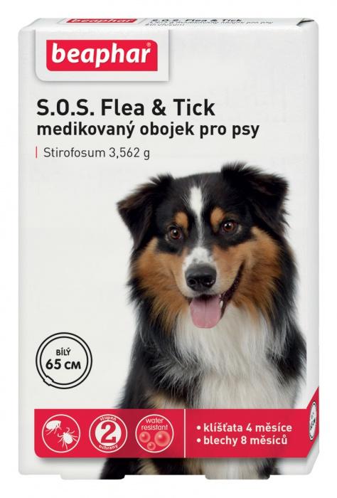 Beaphar antip. obojek Dog S.O.S. 65cm