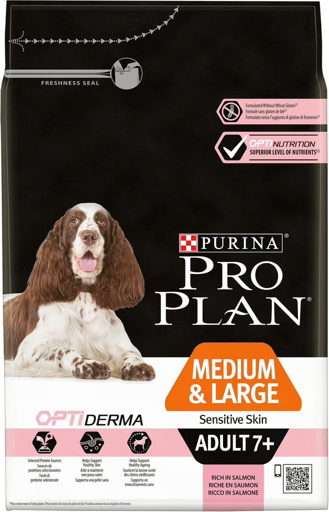 PRO PLAN MEDIUM & LARGE ADULT 7+ Sensitive Skin 14kg