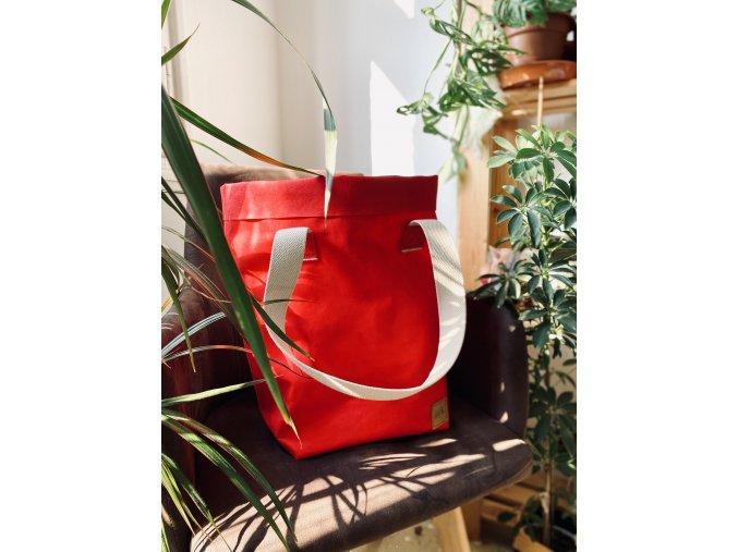 cerveny shoper bag