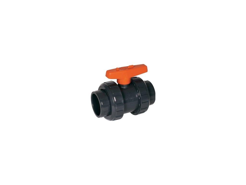 2-cestný guľový ventil PVC S6 Praher