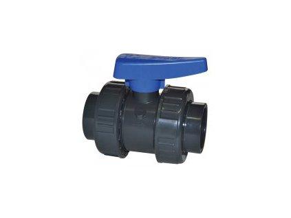 2-cestný guľový ventil PVC Effast