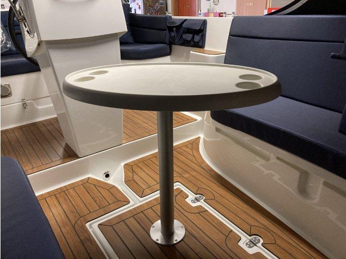 Stůl oválný bílý 762/457 mm