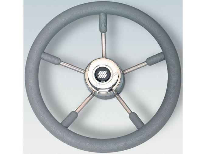 vyr 38651ULTRAFLEX V57G volan z nerezovej ocele s polyuretanovou rukovatou sedou