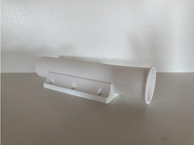 Držák na pruty PVC – bílý