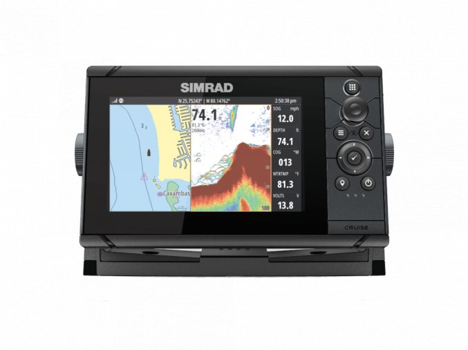 Simrad Cruise 7 front facing spilt 34884