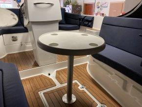 Stůl kulatý, bílý prům. 610 mm