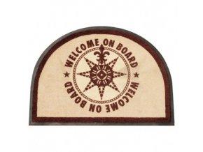 Rohožka půlkruh hnědá Welcome on Board