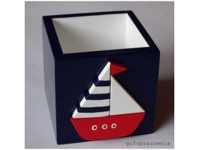 krabicka modra s lodkou