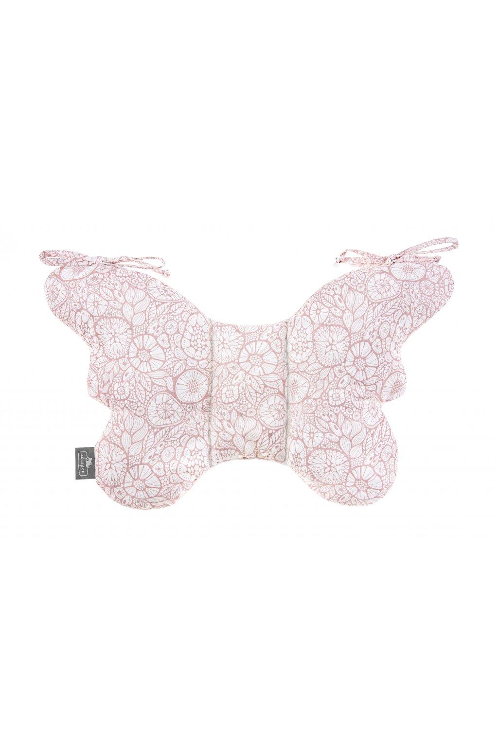 Stabilizační polštářek Sleepee Butterfly pillow růžová