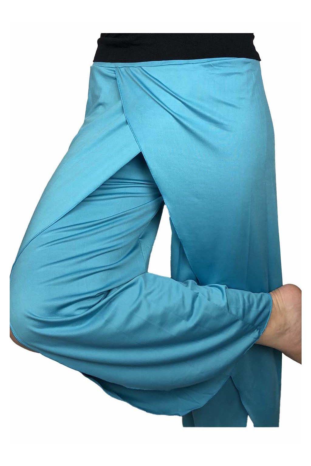 damske joga kalhoty modre 2