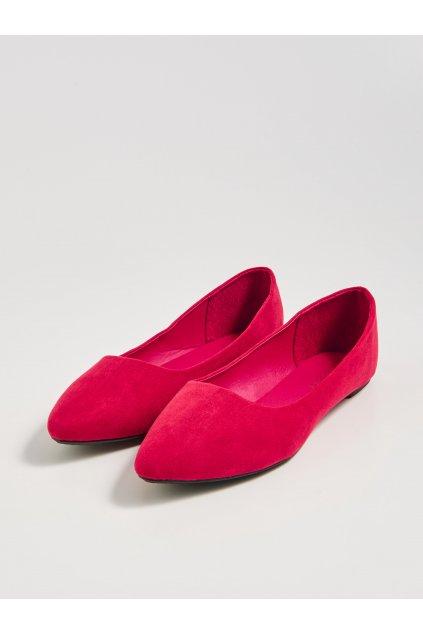 cervene semisove baleriny damske 1