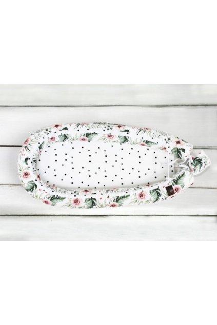 Hnízdečko pro miminko Sleepee Newborn Feel květiny