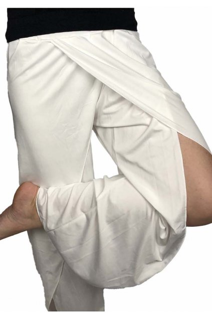 damske joga kalhoty bile 2