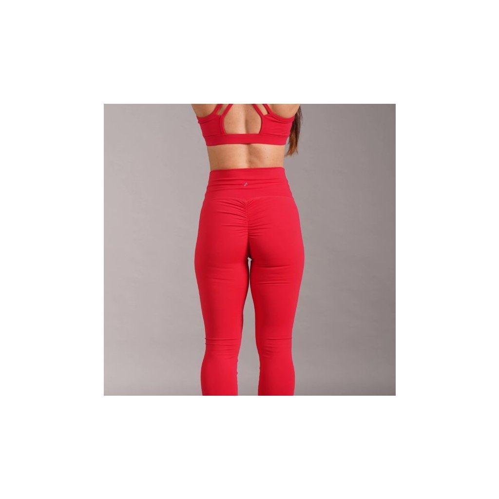 Scrunch Butt Leggings, Red
