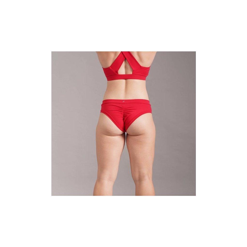 Classic Scrunch Shorts, Red