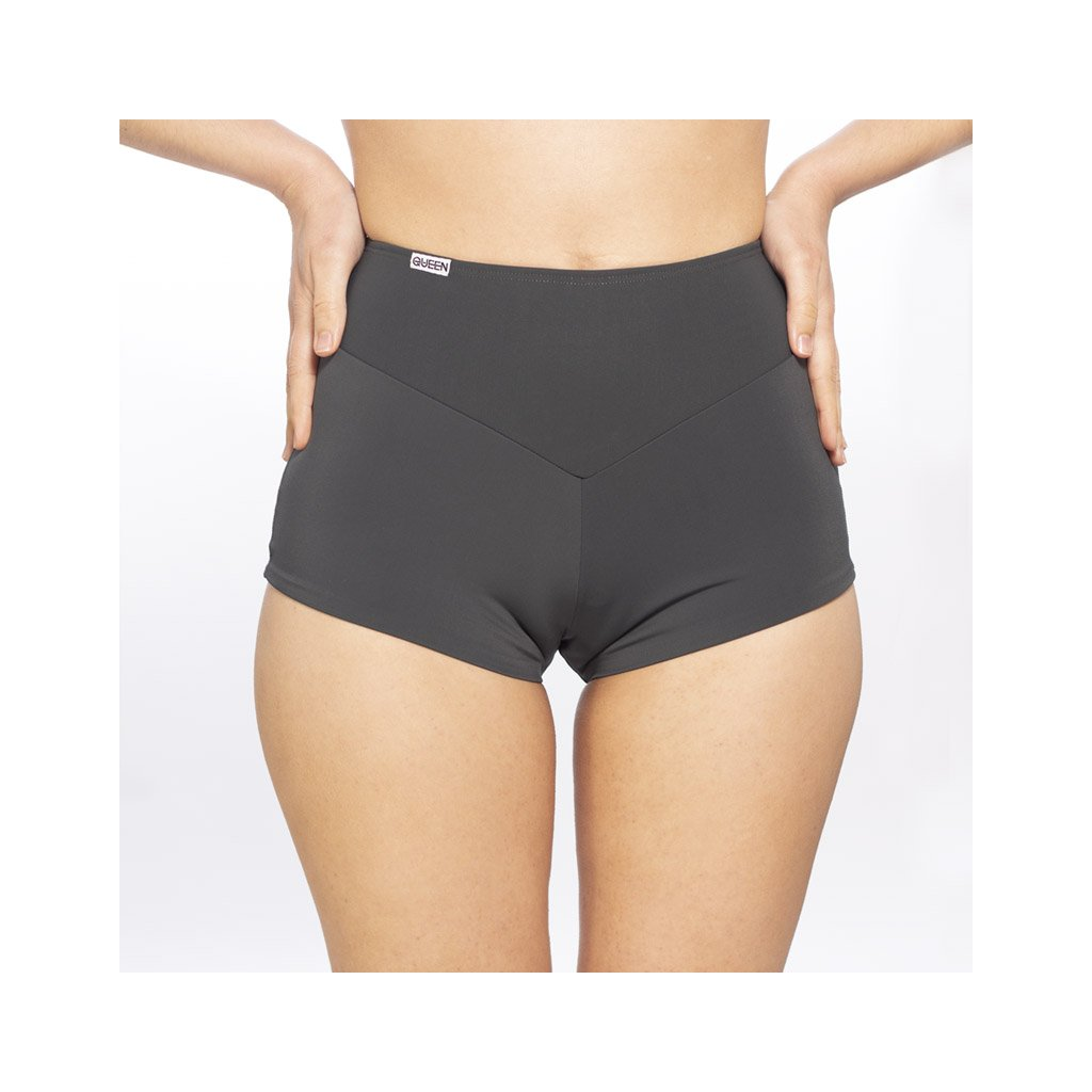 High Waisted Sporty Shorts, Grey