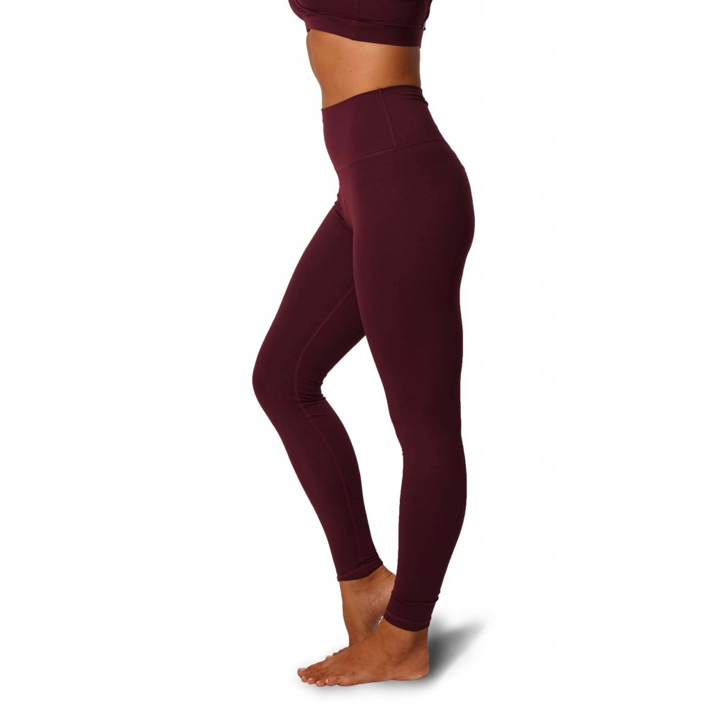 Scrunch Butt Leggings, Burgundy
