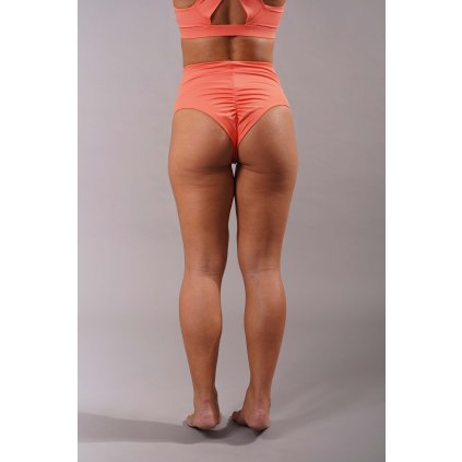 High Waisted Scrunch Short Peach Back