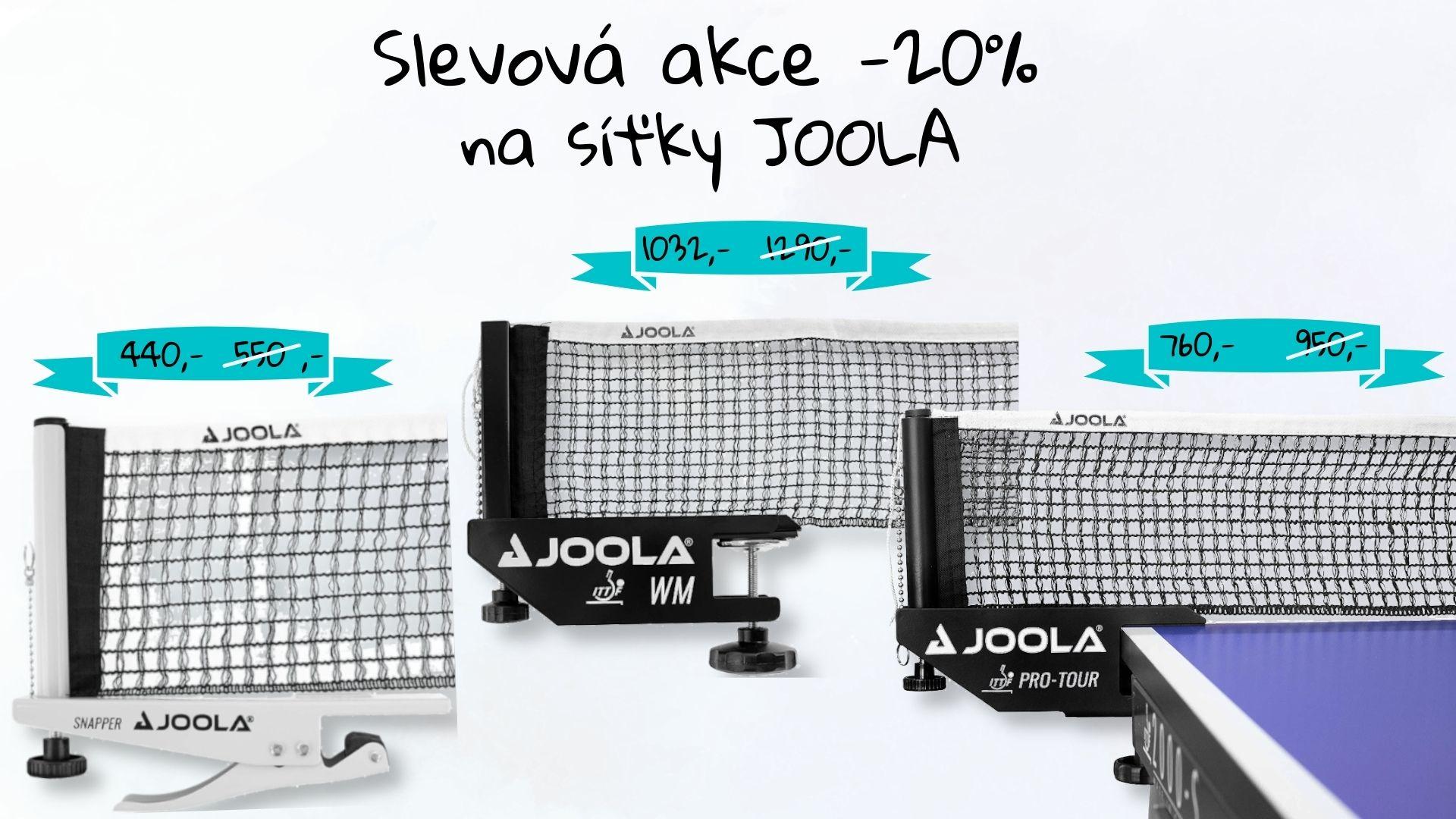 Akce na síťky JOOLA