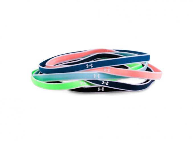 Dámské elastické čelenky Under Armour Mini Headbands (6Pk)