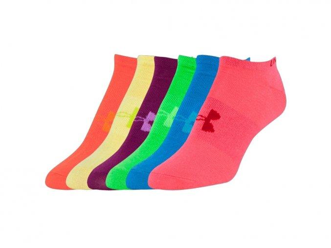 Dámské kotníkové ponožky Under Armour Solid 6 Pks No Show