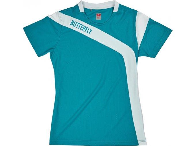 Butterfly textil shirt yasu lady blau
