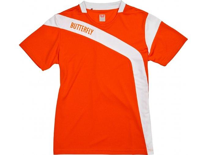 Butterfly textil shirt yasu lady orange