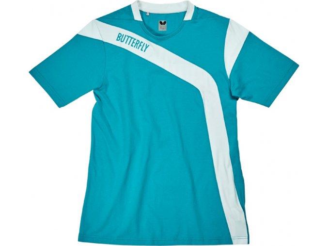 Butterfly textil shirt yasu baumwolle blau