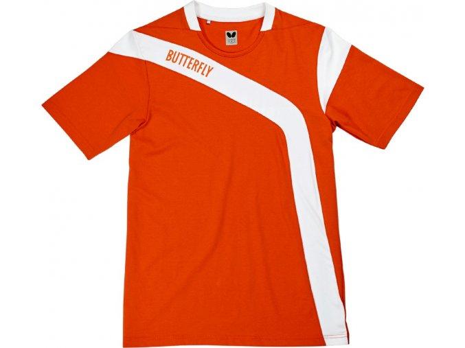 Butterfly textil shirt yasu baumwolle orange