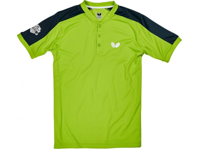 Butterfly textil shirt takeo lime