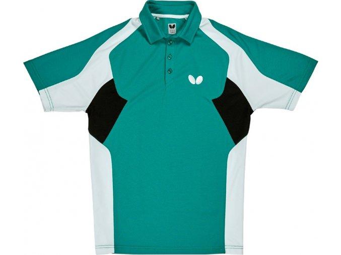Butterfly textil shirt shiro petrol