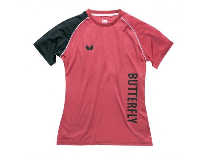 Butterfly Shirt Lady Aino darkpink