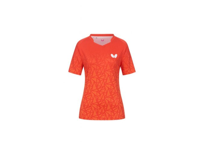 Butterfly shirt HIGO LADY red front