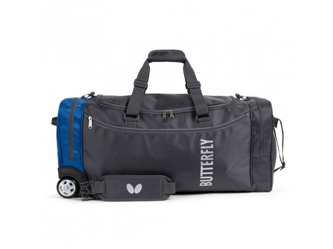 Butterfly sportsbag with rolls OTOMO blue front