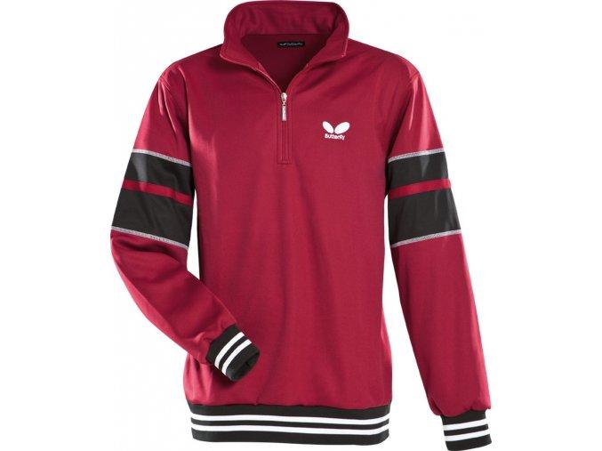 butterfly sweatshirt force dark red 1