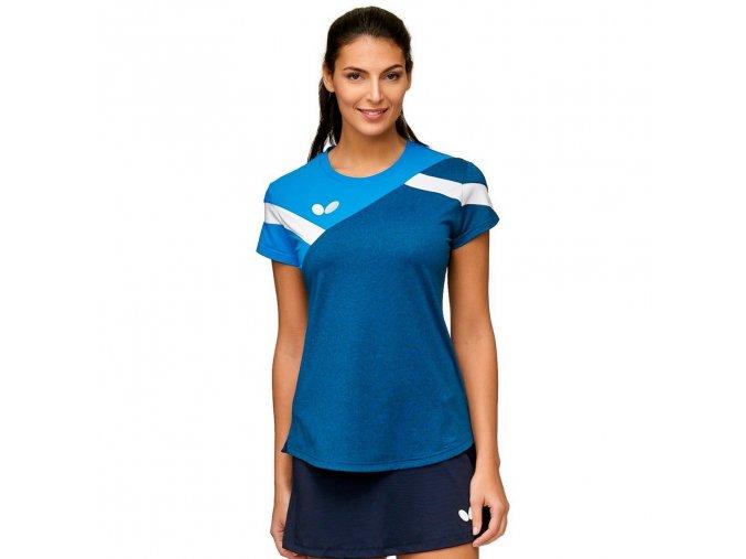shirt yao lady blue front 5